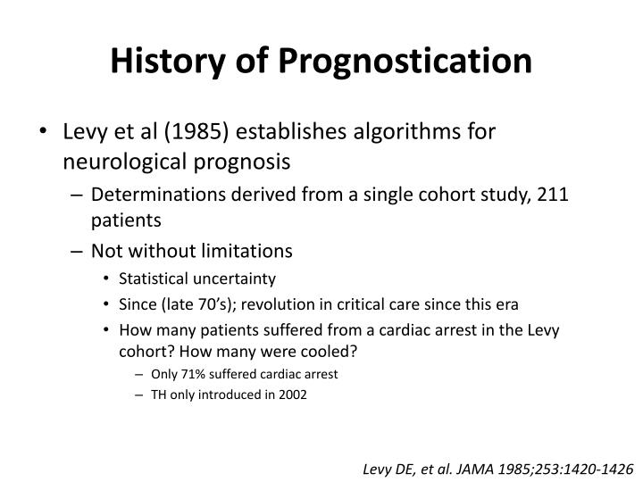 History of Prognostication