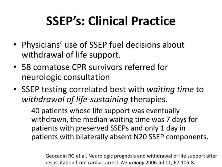 SSEP's: Clinical Practice