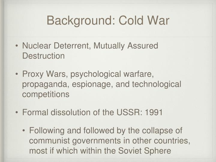 Background: Cold War