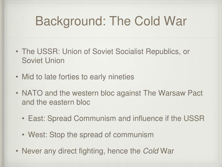 Background the cold war
