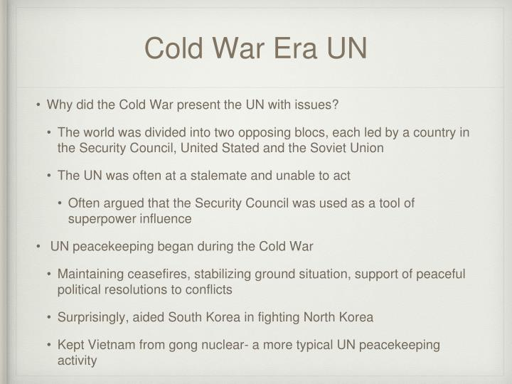 Cold War Era UN