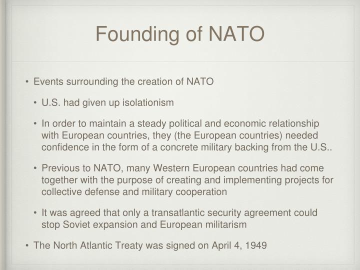 Founding of NATO