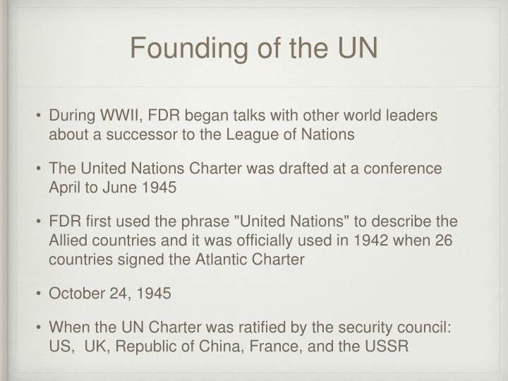 Founding of the UN