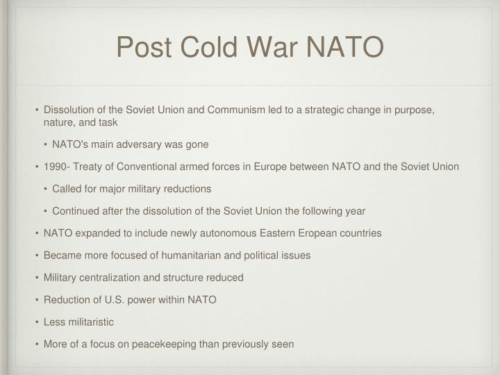 Post Cold War NATO