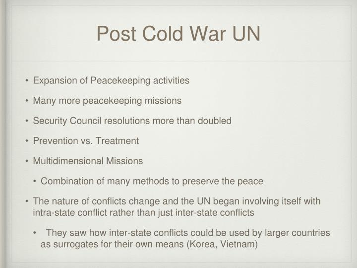 Post Cold War UN