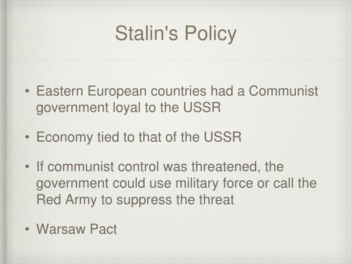 Stalin's Policy