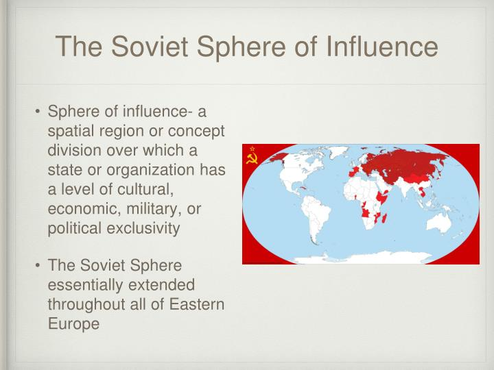 The Soviet Sphere of Influence