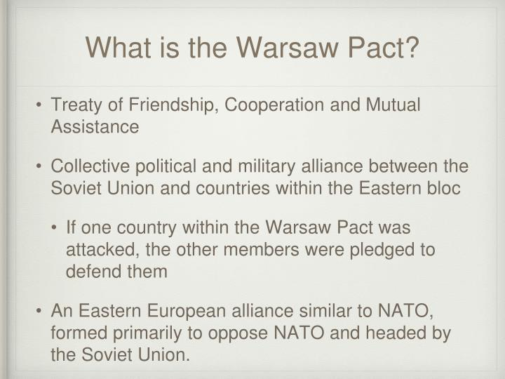 What is the Warsaw Pact?