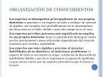organizaci n de conocimientos