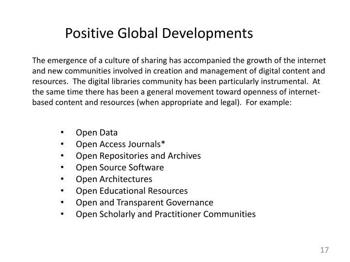 Positive Global Developments