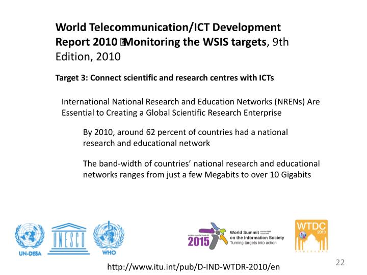 World Telecommunication/ICT Development Report 2010 – Monitoring the WSIS targets
