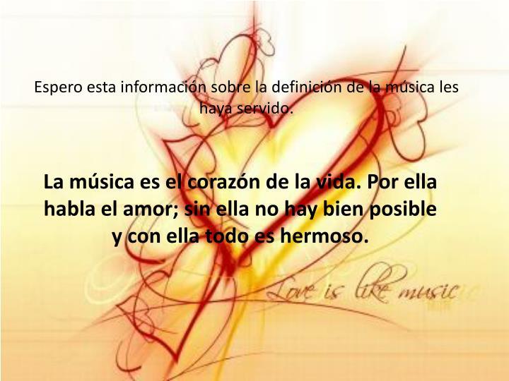 Espero esta información sobre la definición de la música les haya servido.