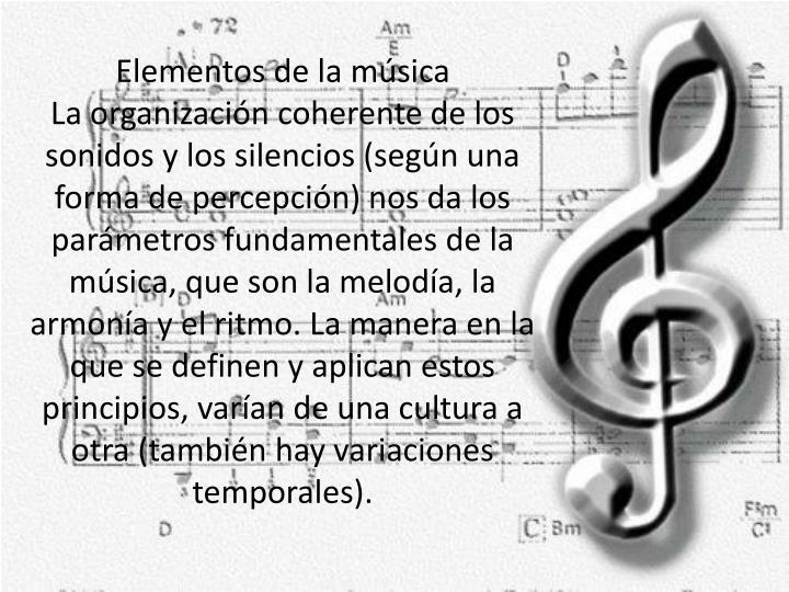 Elementos de la música