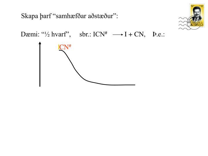"""Dæmi: """"½ hvarf"""",     sbr.: ICN"""