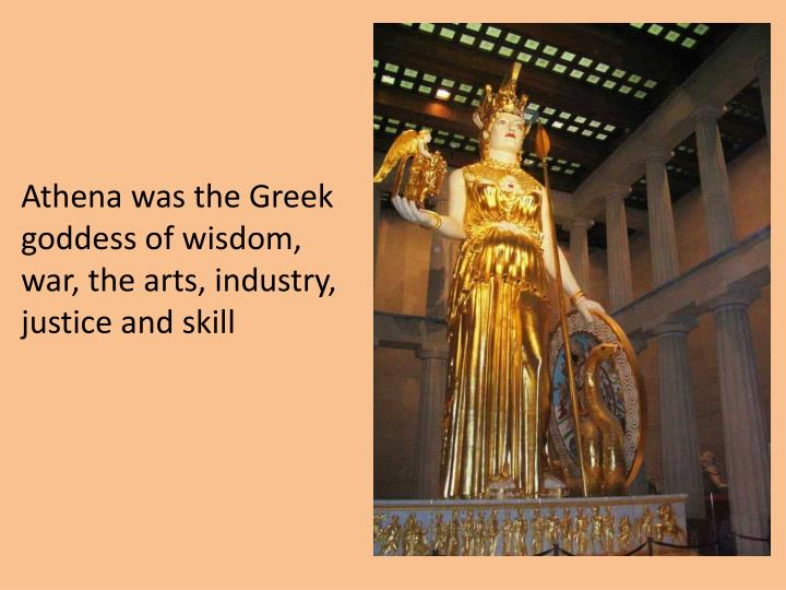 the story of athena the greek goddess of wisdom war and useful arts