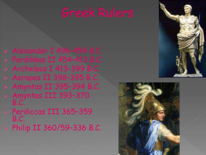 Greek Rulers