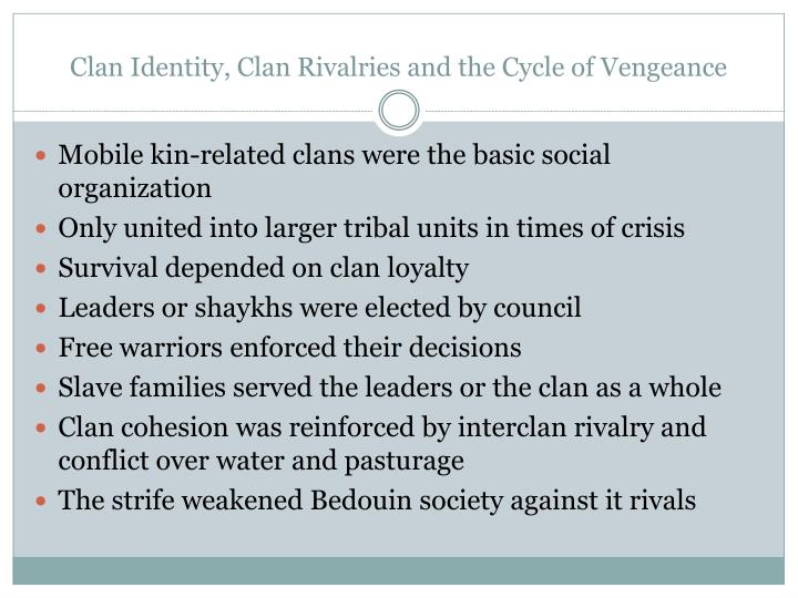 Clan Identity, Clan Rivalries and the Cycle of Vengeance