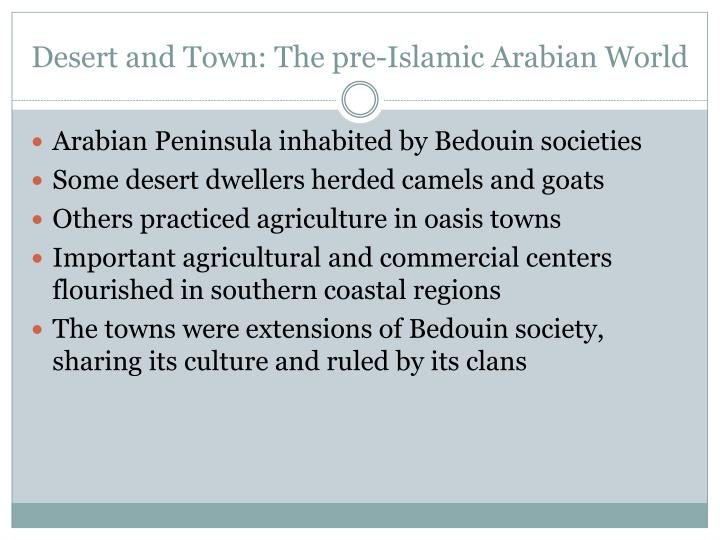 Desert and Town: The pre-Islamic Arabian World