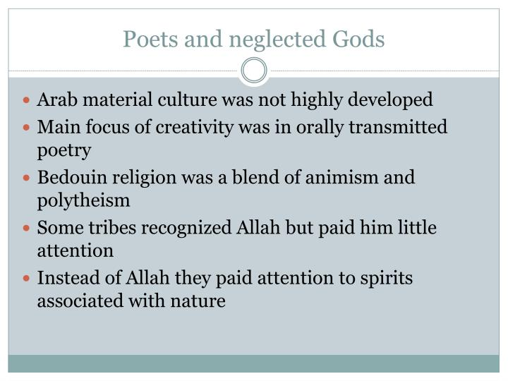 Poets and neglected Gods