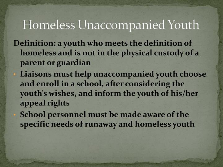 Homeless Unaccompanied Youth