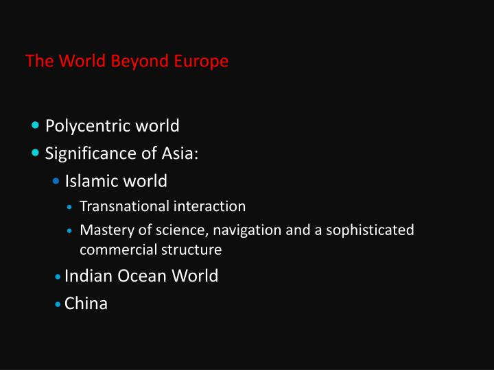 The World Beyond Europe