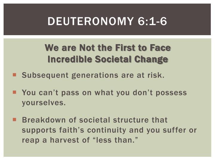 Deuteronomy 6:1-6