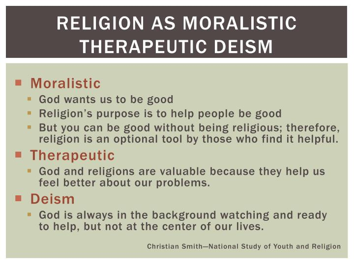 Religion as moralistic