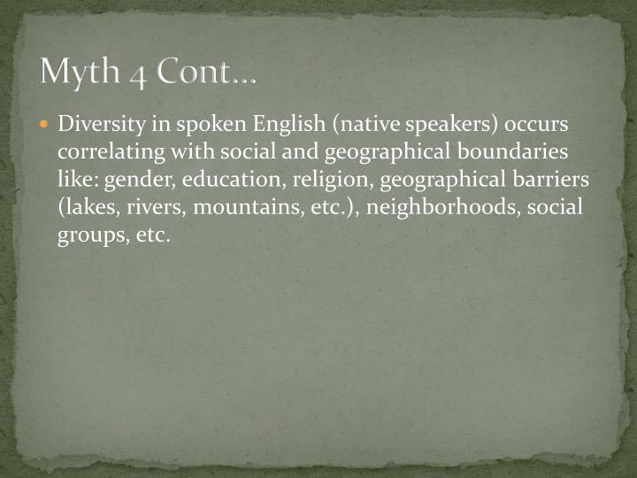 Myth 4 Cont…