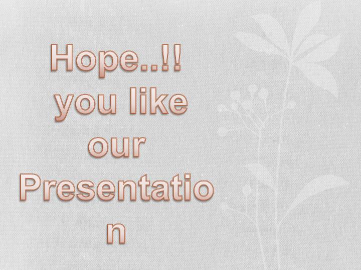 Hope..!!