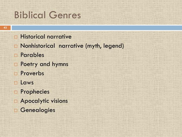 Biblical Genres