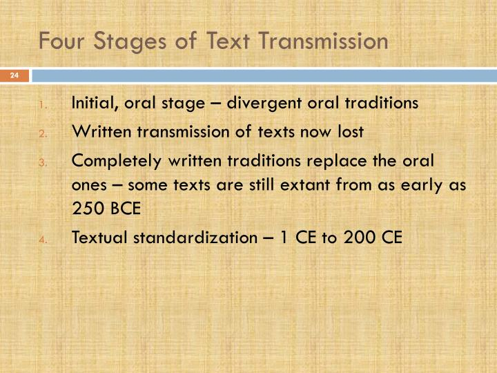 Four Stages of Text Transmission