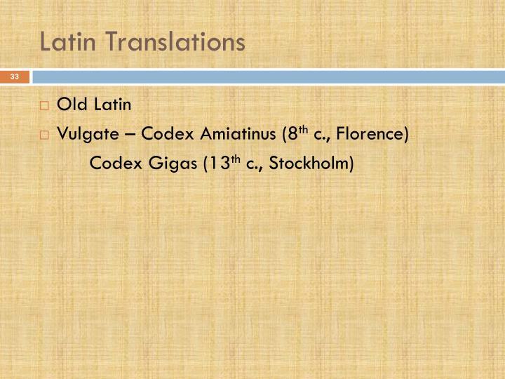 Latin Translations
