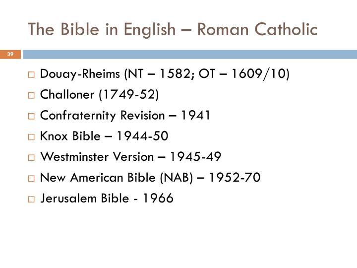 The Bible in English – Roman Catholic