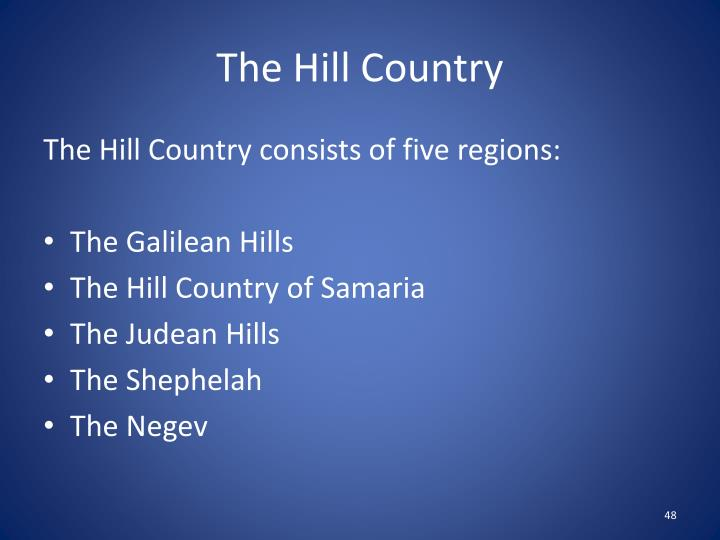 The Hill Country