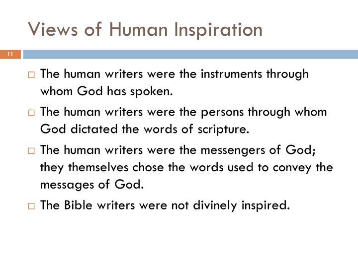 Views of Human Inspiration