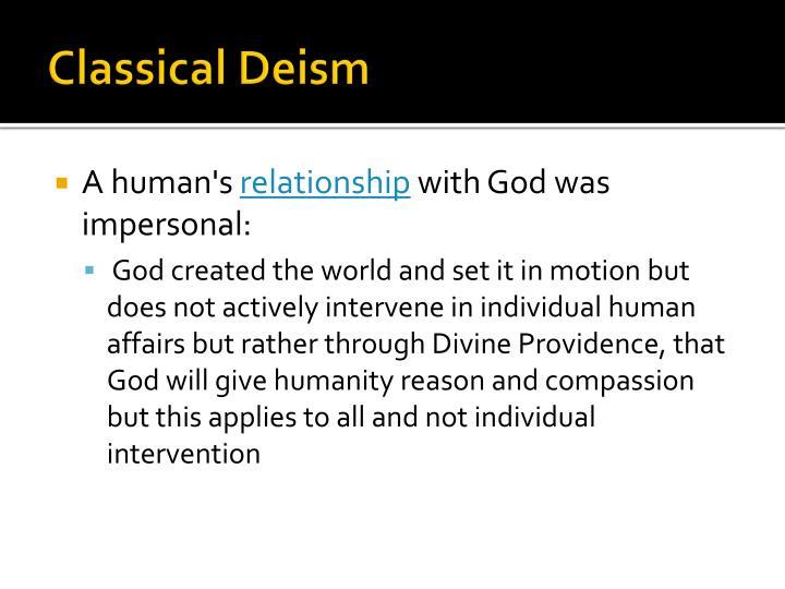 Classical Deism