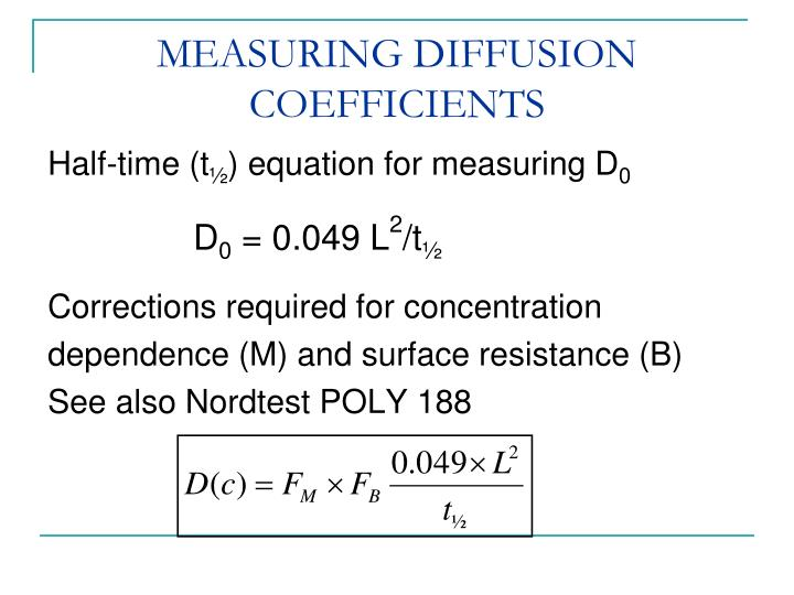 MEASURING DIFFUSION COEFFICIENTS