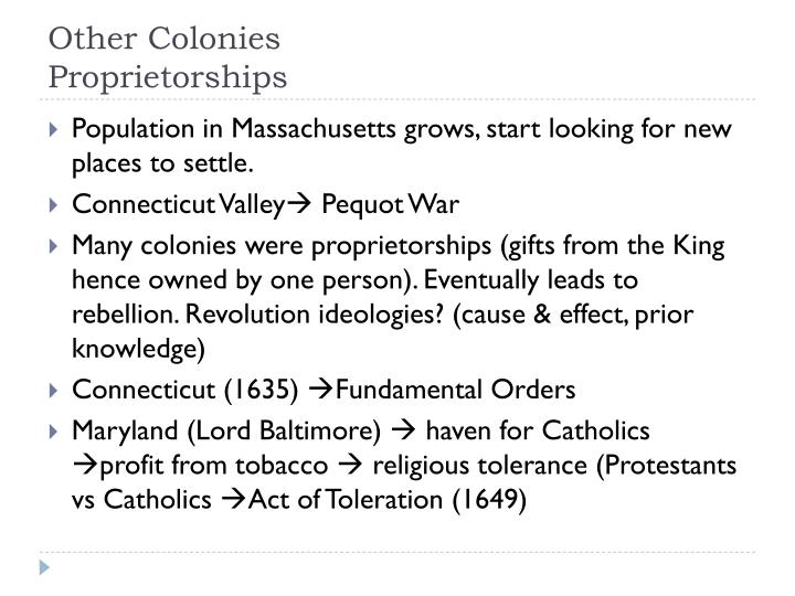 Other Colonies
