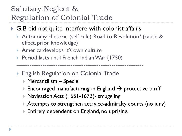 Salutary Neglect &