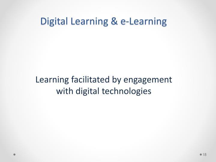 Digital Learning & e-Learning
