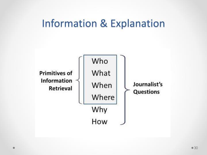 Information &