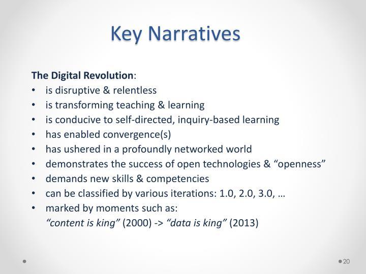Key Narratives