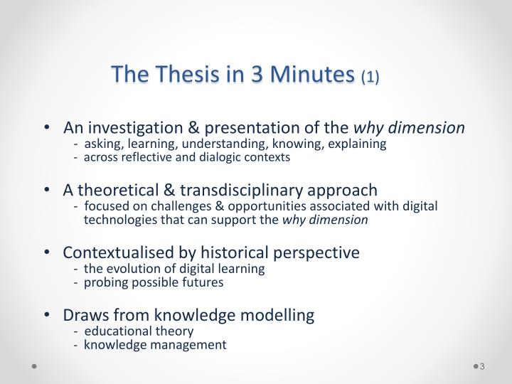 The thesis in 3 minutes 1