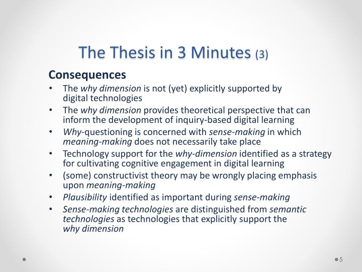The Thesis in 3 Minutes