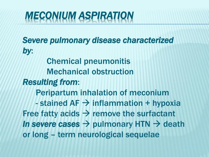 Severe pulmonary disease characterized