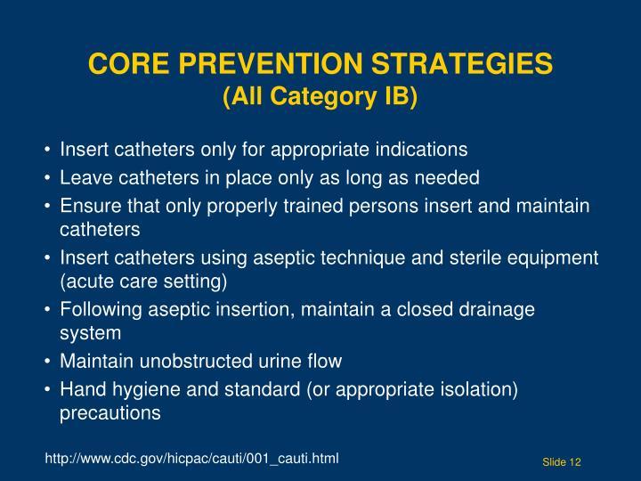 Core Prevention Strategies