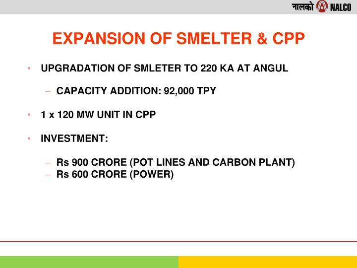 UPGRADATION OF SMLETER TO 220 KA AT ANGUL