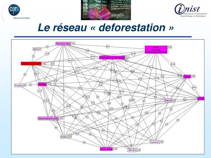 Le réseau «deforestation»