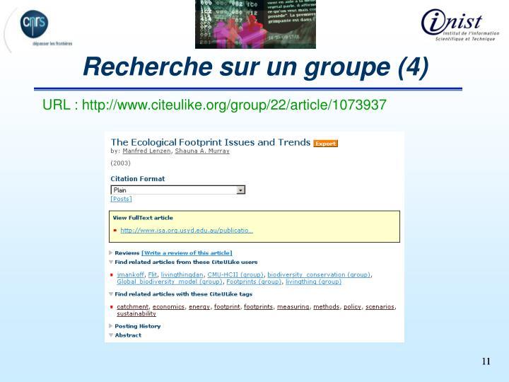 Recherche sur un groupe (4)