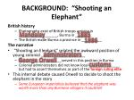background shooting an elephant
